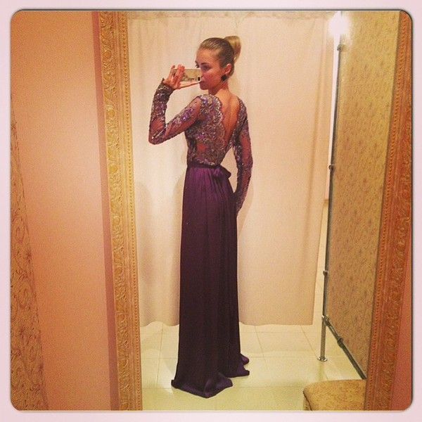 dress maxi dress purple lilac prom dress mesh deep v back girly purple dress prom dress glamour long gown silver blonde hair pretty