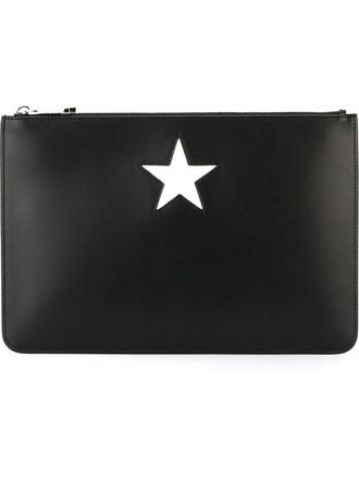 paris clutch black bag