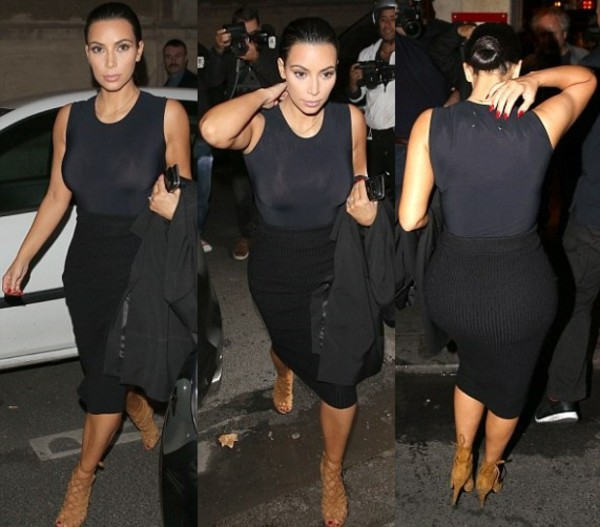 top kim kardashian black fashion week 2014 streetstyle