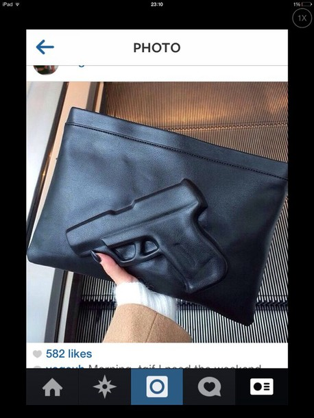 bag black leather clutch black leather clutch black leather gun 007