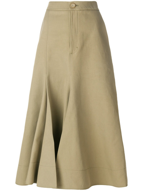 Joseph skirt midi skirt women midi nude cotton silk
