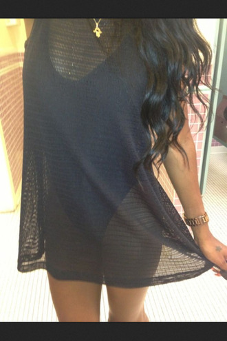 tank top black lace cover up see through swimwear