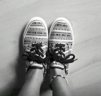vans shoes aztec