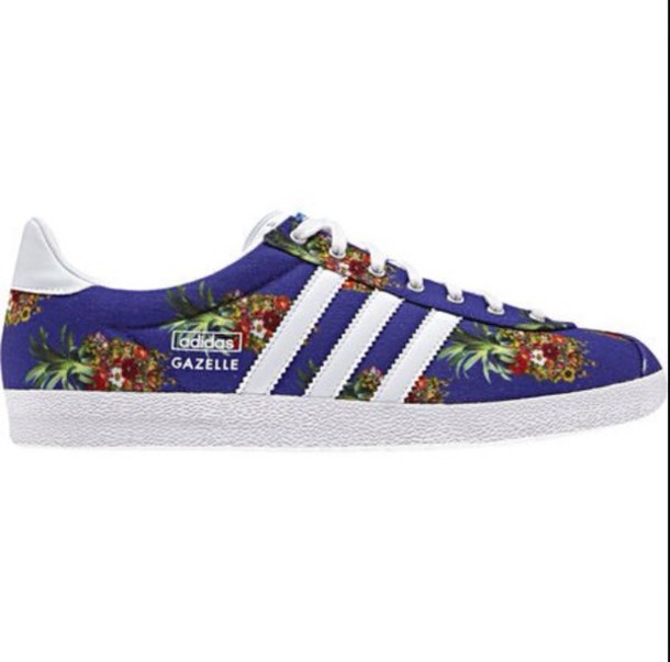 shoes blue adidas shoes pineapple print