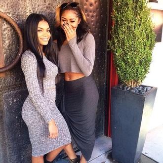 dress cashmere india westbrooks sweater long sleeve dress two-piece red lime sunday black girls killin it