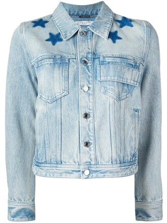 jacket women cotton print blue