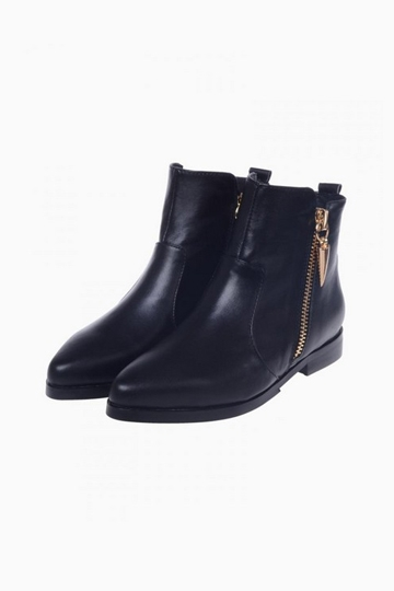 Chic Flat Ankle Boots With Side Zip [HXM885]- US$ 102.99 - PersunMall.com