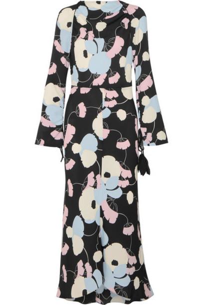 MARNI dress maxi dress maxi floral print black