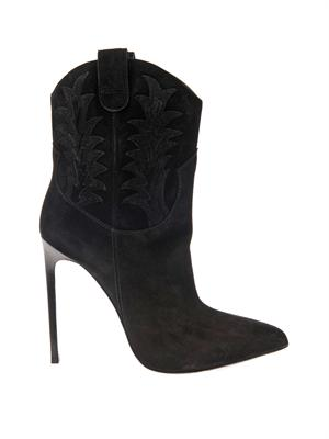 Paris western suede ankle boots