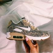 shoes,snake print,nike,air max,sneakers,nikeair,nike ai,nike running shoes,nike air,nike air max 90,nike snakeskin nude