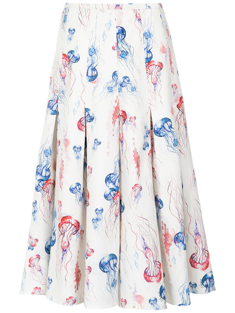 Olympiah skirt midi skirt women midi spandex jellyfish print