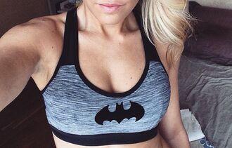 top bra sports bra sportswear batman grey bra sportsbra