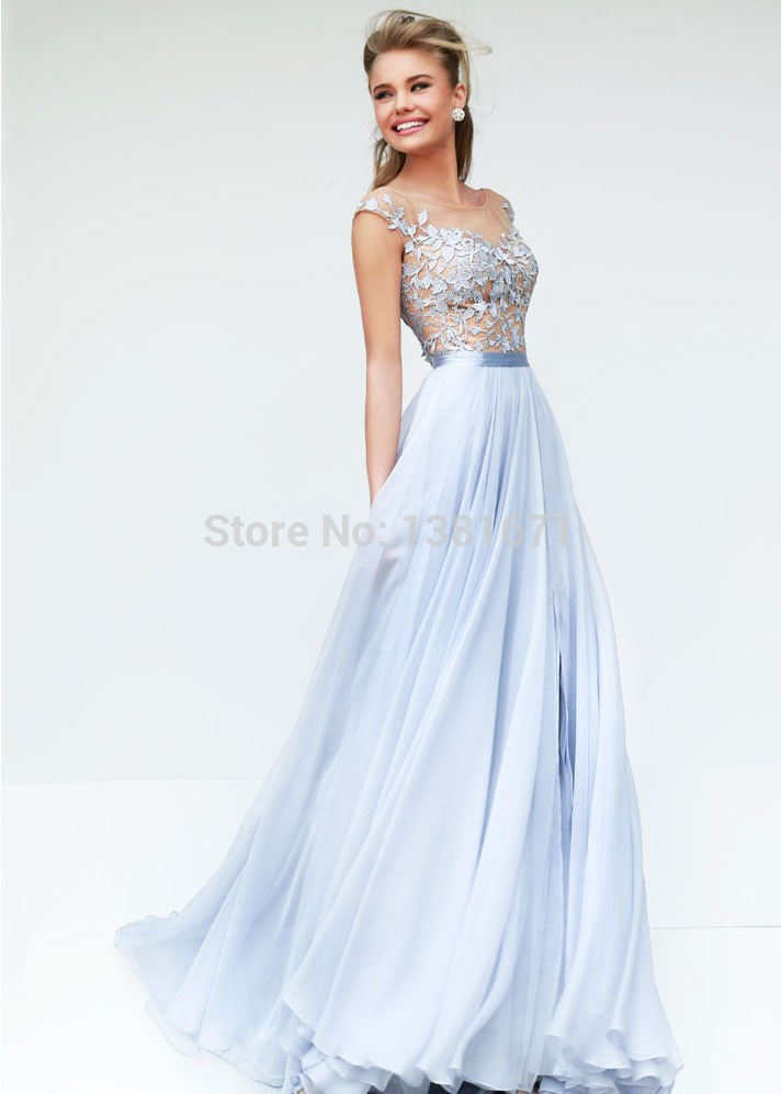 Aliexpress.com : Buy Stunning Evening Gown High Neckline Lace ...