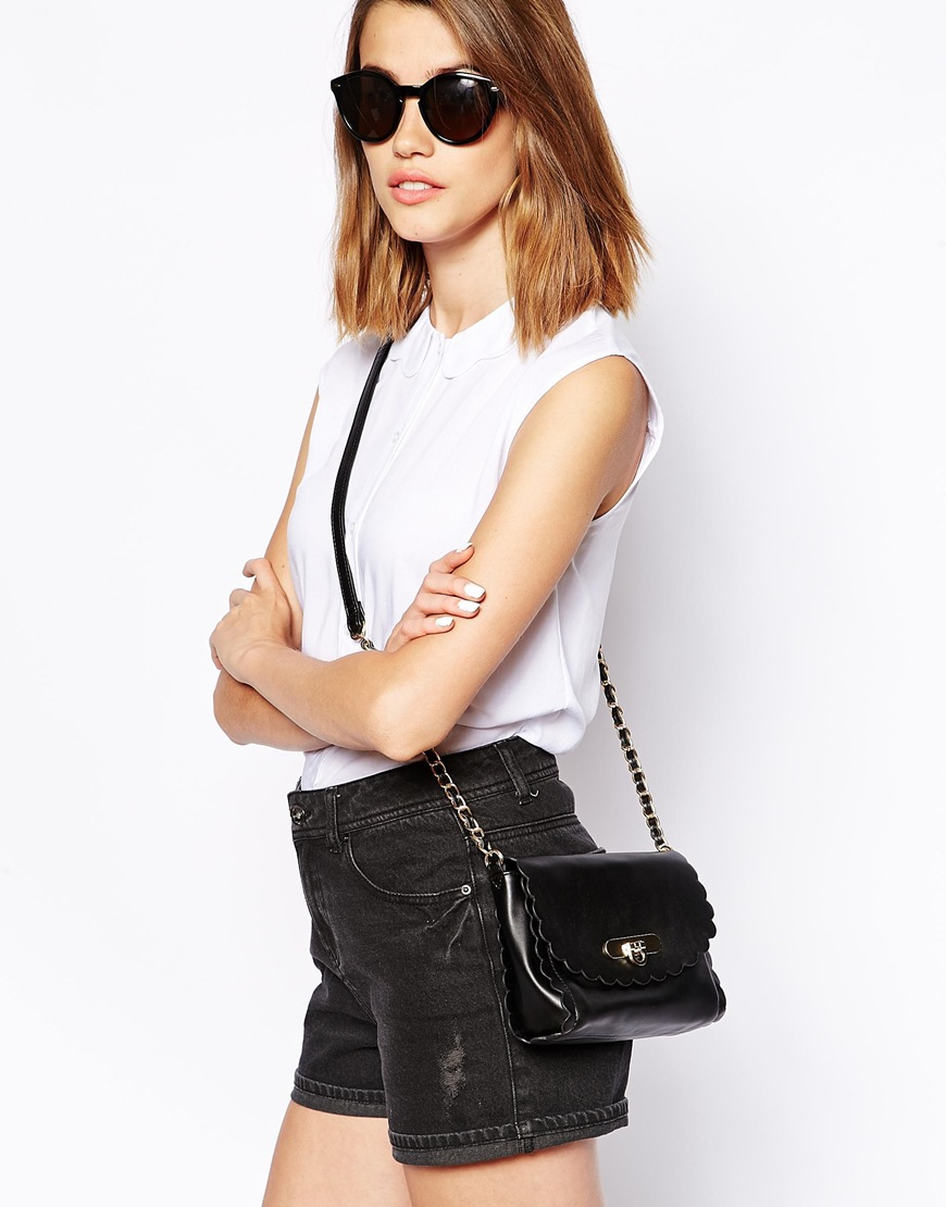 ASOS Scallop Trim Cross Body Bag at asos.com
