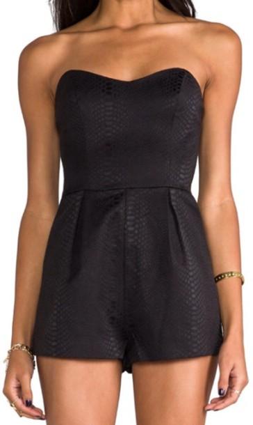 shorts, black, cute, romper, tumblr, gorgeous - Wheretoget Black Shorts Tumblr