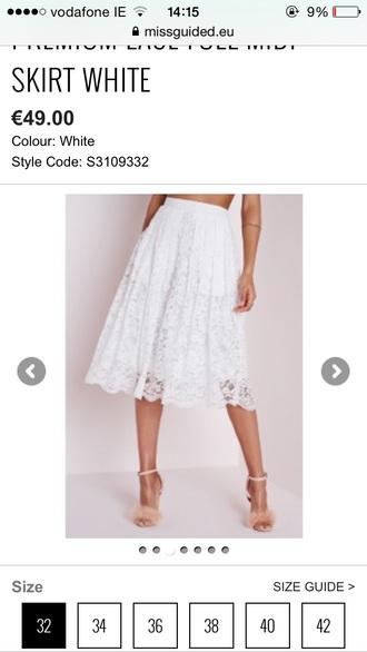 skirt white skirt midi skirt
