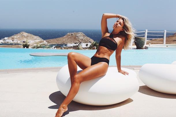 swimwear bikini bikini top tash oakley natasha oakley a bikini a day bikini bottoms black bikini abikiniaday devin burgman devin brugman