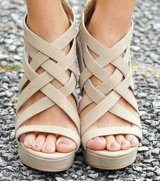 shoes wedges strappy heels summer wedges