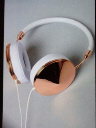earphones rose gold white headphones style beautiful cool stud