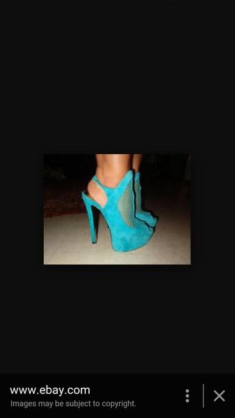 shoes blue shoes platform shoes