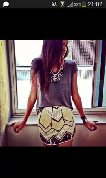 jewels skirt tights