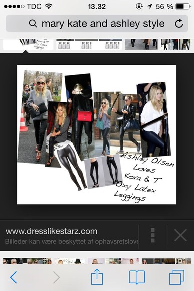 ashley olsen mary kate olsen twin olsen grunge grunge fashion pants leather leggins latex pants spandex leggings punk rock rock'n'roll