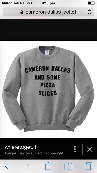 sweater grey cameron dallas cameron dallas logo magcon boys magcon shirts magcon hoodie