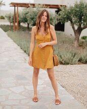 shoes,dress,short dress,bag,slide shoes,brown shoes