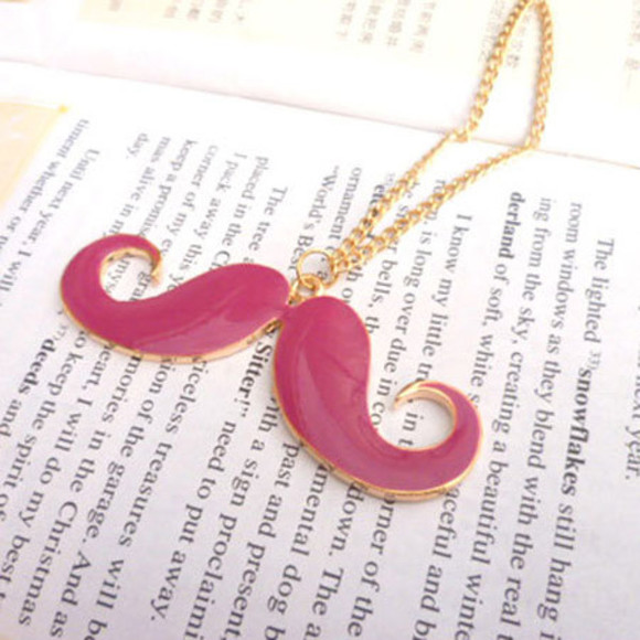 moustache jewels necklace