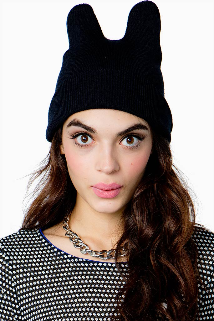 A'GACI Kitty Cat Ear Beanie - HATS   HEADWEAR