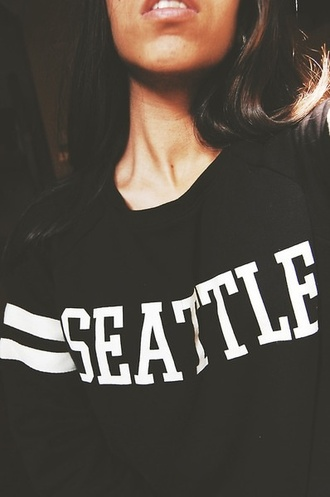 shirt seattle black hippie hipster cute slouchy