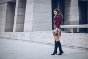 live more beautifully,blogger,sweater,scarf,skirt,shoes,bag,jewels,knee high boots,winter outfits,clutch,mini skirt,burgundy sweater,boots
