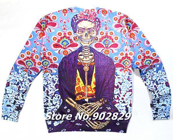 Harajuku New 2014 Women/Men Clothing Floral Skull Zombie Flowers Print Cool 3D Sweatshirt Hoodies Spring Pullovers Sportswear-in Hoodies & Sweatshirts from Apparel & Accessories on Aliexpress.com