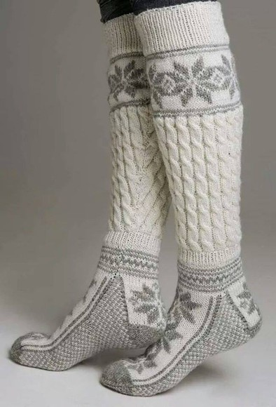 socks winter outfits warm knit knitted grey
