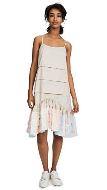 Jourden dress slip dress unicorn nude