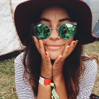 sunglasses hippie music festival hot