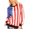 Multi color american flag pattern sweatshirt