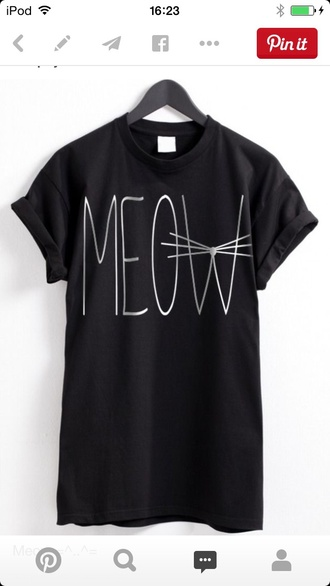 shirt meow quote on it cats kitty