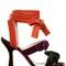 80mm diletta velvet sandals w/ bows