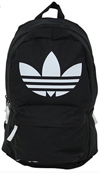 60054c9faa bag, adidas, black, white, school bag, backpack - Wheretoget