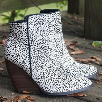 shoes amazing lace chic fall outfits booties funny style black and white trendy ankle bootie spotted chocolate chip