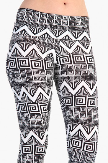 OMG Zig Zag Aztec Fold Over Leggings