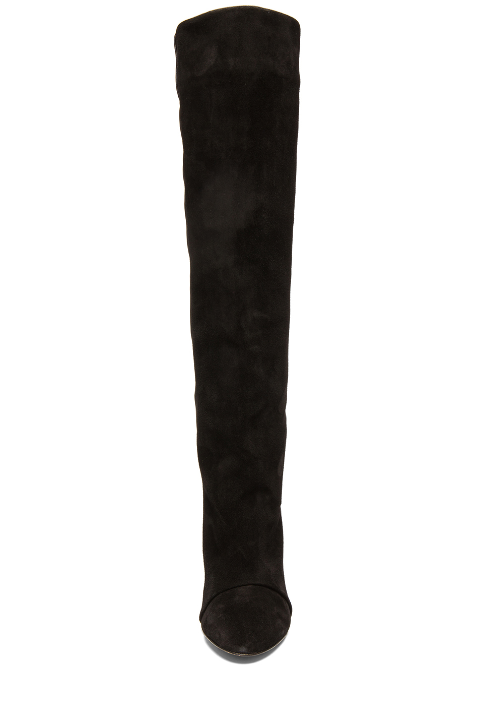 Isabel Marant|Prescott Calfskin Velvet Leather Boots in Black