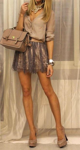 skirt tulle skirt neutral colors