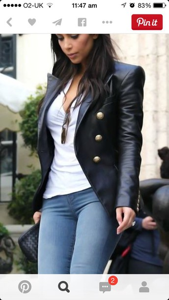 jacket black leather jacket