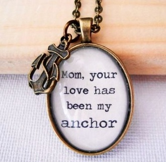 jewels mom sweet child necklace anchor stay strong chain quote on it mother and child mothers day gift idea