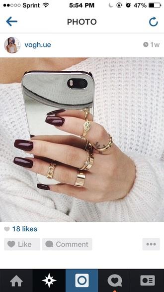 phone case mirror platinum silver