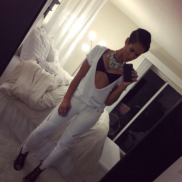 kylie jenner cut-out mesh jeans white jeans skinny jeans white pants all white classy kim kardashian karuche cut out jeans