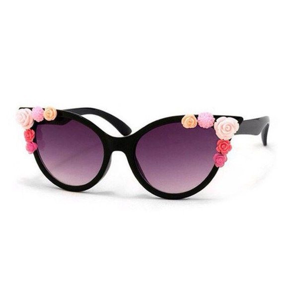 cat eye sunglasses floral