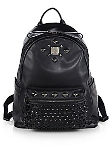 MCM - Stark Studded Mini Backpack - Saks Fifth Avenue Mobile
